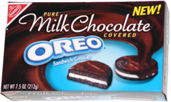 Pure Milk Chocolate Covered Oreo Sandwich Cookies