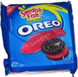 Swedish fish oreo for Swedish fish oreos
