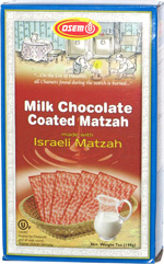 Osem Milk Chocolate Coated Matzah