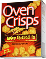 Oven Crisps Spicy Quesadilla