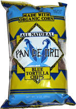 Pan De Oro Blue Tortilla Chips