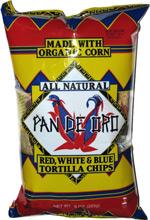 Pan De Oro Red, White & Blue Tortilla Chips