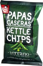 Papas Caseras Kettle Chips Serrano