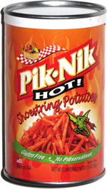 Pik-Nik Shoestrings Hot Real Potato Crisps
