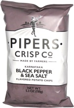 Pipers Crisp Co Karnataka Black Pepper & Sea Salt Flavored Potato Chips