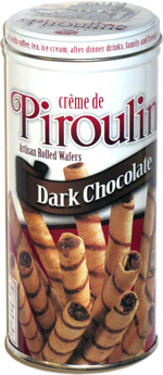 Crème de Pirouline Artisan Rolled Wafers Dark Chocolate