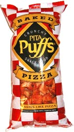 Baked Crunchy Pita Puffs Snack Food - Pizza Flavor