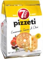 7 Days Pizzeti Emmentaler, Tomato & Olive