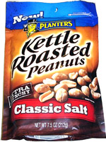 Planters Kettle Roasted Peanuts Extra Crunchy Classic Salt