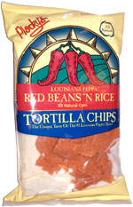 Plocky's Louisiana Peppa Red Beans 'N Rice Tortilla Chips