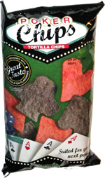 Poker Chips Tortilla Chips