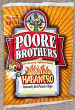 Poore Brothers Habanero Intensely Hot Potato Chips