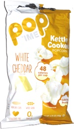 Pop Time Kettle Cooked Popcorn White Cheddar