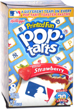 Printed Fun Pop-Tarts Major League Baseball Frosted Strawberry