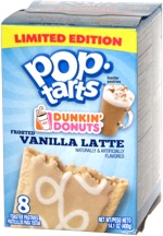 Pop-Tarts Dunkin' Donuts Frosted Vanilla Latte