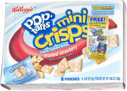 Pop-Tarts Mini Crisps Frosted Strawberry