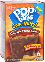 Pop Tarts Gone Nutty! Frosted Chocolate & Peanut Butter