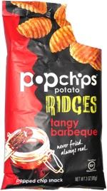 Popchips Potato Ridges Tangy Barbeque