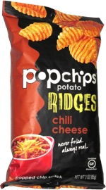 Popchips Potato Ridges Chili Cheese