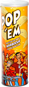 Pop 'Em Barbecue Flavored Potato Crisps