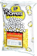 Poppers Hot Chedda' Flavored Popcorn