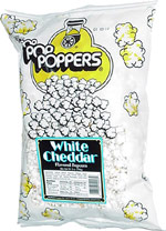 Poppers White Cheddar Flavored Popcorn
