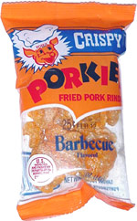 Porkies Crispy Fried Pork Rinds Barbecue Flavored