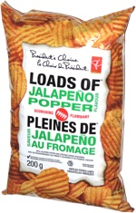 President's Choice Loads of Jalapeño Popper Scorching Rippled Potato Chips