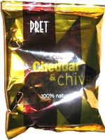 Pret Hand Cooked Cheddar & Chive Crisps