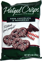 Pretzel Crisps Dark Chocolate & Peppermint