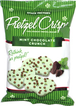 Pretzel Crisps Mint Chocolate Crunch
