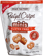 Pretzel Crisps Minis Gluten Free Salted Caramel