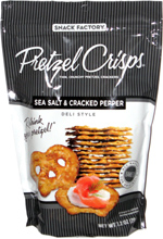Pretzel Crisps Sea Salt & Cracked Pepper