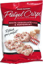 Pretzel Crisps White Chocolate & Peppermint