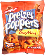 SuperSnax Pretzel Poppers Zesty Pizza
