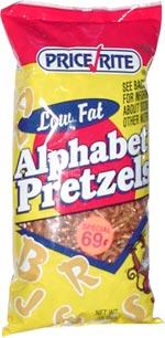 Price Rite Low Fat Alphabet Pretzels