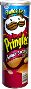 Pringles Smoky Bacon Potato Crisps