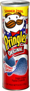 Pringles Original Colored Crisps Blue Summer 2004