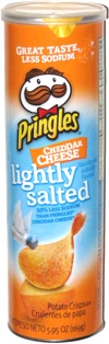 Pringles Cheddar Cheese Lightly Salted