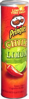 Pringles Chile y Limón