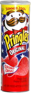 Pringles Original Colored Crisps Red Summer 2004