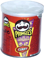 Pringles Curry Flavour Savoury Snack