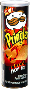 Pringles Fiery Hot Potato Crisps