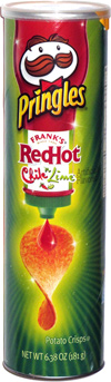 Pringles Frank's Red Hot Chile 'n Lime