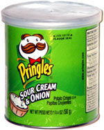 Pringles Sour Cream 'N Onion Potato Crisps