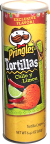 Pringles Tortillas Chile y Limon