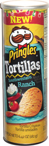 Pringles Tortillas Southwest Ranch