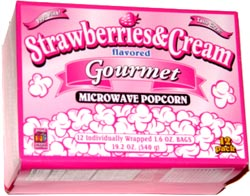 Proud Poppin' Parents Strawberries & Cream Flavored Gourmet Microwave Popcorn