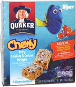 Quaker Chewy Dory Cookies & Cream Delight Granola Bars