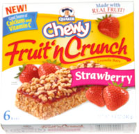 Quaker Chewy Fruit 'n Crunch Granola Bars Strawberry